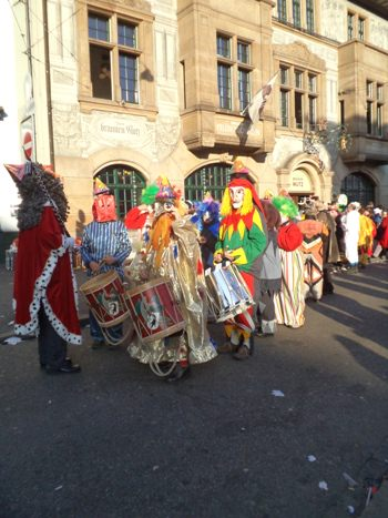 Pipers and Drummers at Basel Fasnacht