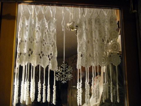 Lace curtains, Cogne, Italy