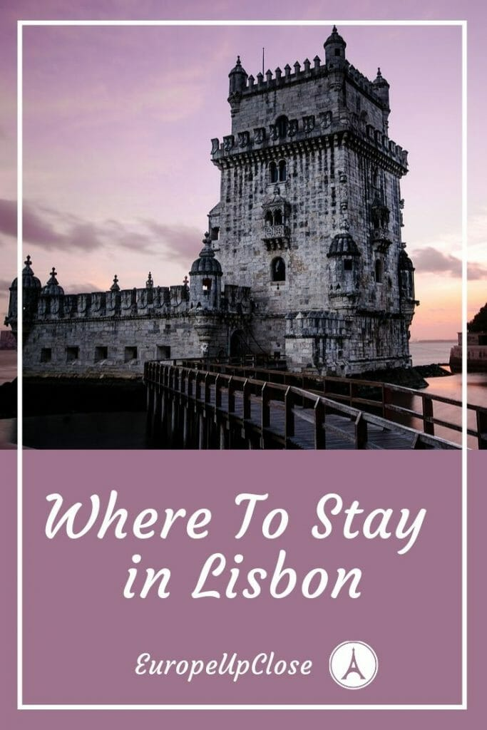 Pin this: Where to stay in Lisbon - The best neighborhoods and hotels in Lisbon! These are the best places to stay in Lisbon for tourists #Lisbon #Portugal #SouthernEurope #Travel #traveltips #Europetrip #europetravel #lisbonportugal #lisboa #lisbonguide #lisbontravel #lisbontrip