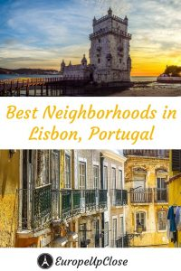 Pinnable Image: Where to stay in Lisbon - The best neighborhoods and hotels in Lisbon! These are the best places to stay in Lisbon for tourists #Lisbon #Portugal #SouthernEurope #Travel #traveltips #Europetrip #europetravel #lisbonportugal #lisboa #lisbonguide #lisbontravel #lisbontrip