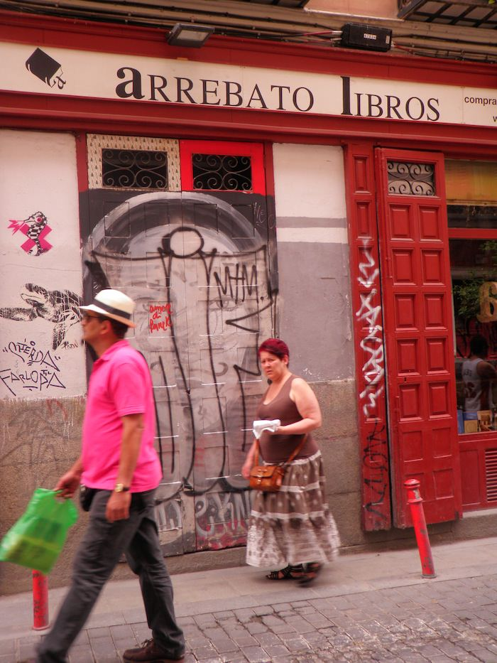 Locals in La Latina area of Madrid
