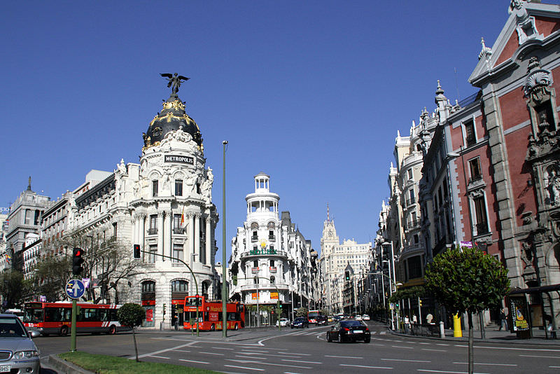 street scene in Inviting Madrid