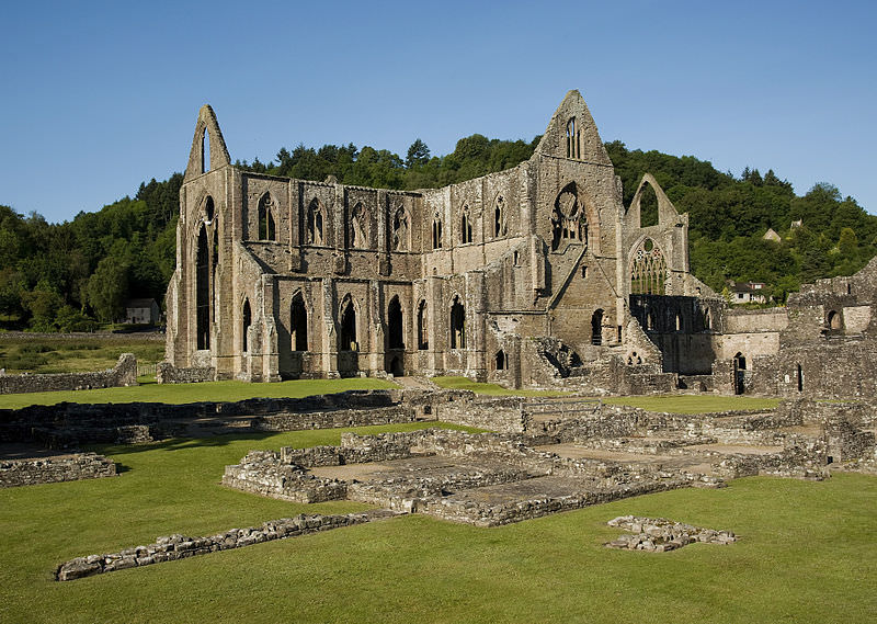 Tintern Abbey and Courtyard