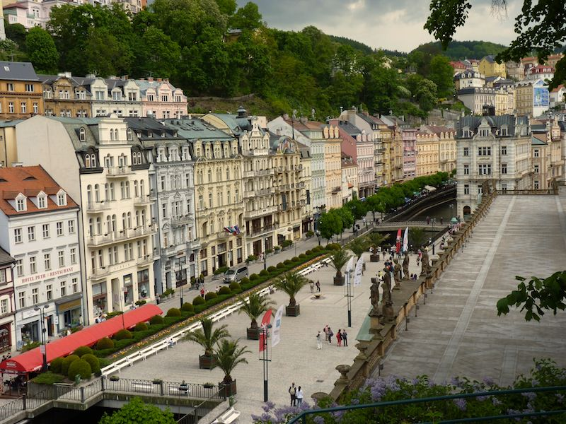 Downtown Promenade in Karlovy Vary
