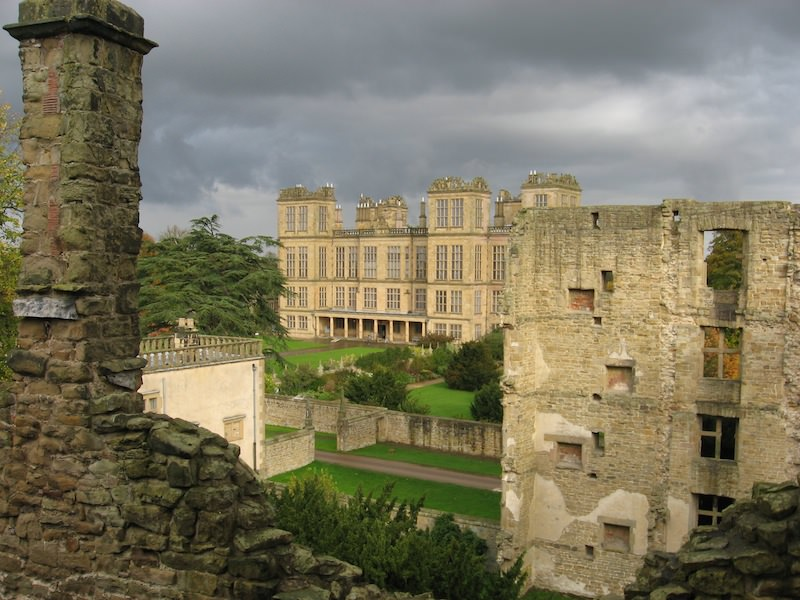 View of New Hardwick Hall from the Old Hall