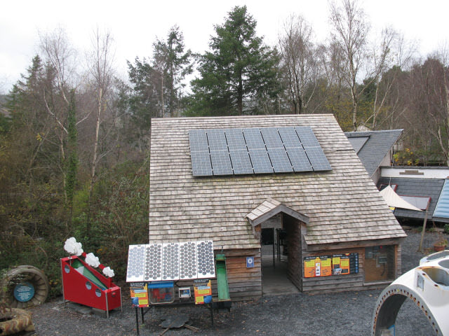 The Centre for Alternative Technology's  Solar Power Demonstration House - Photo by Stephen Craven