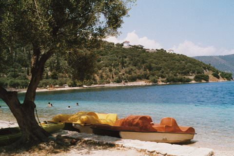 Beautiful beach on Ithaka