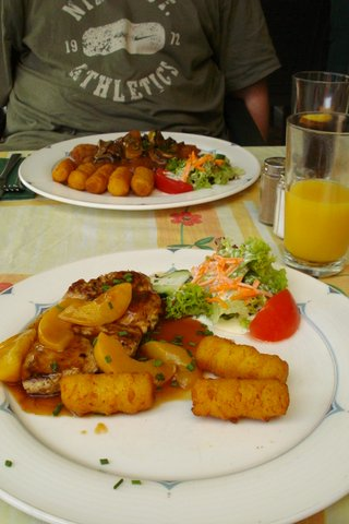 Meal at Amalfi Restaurant