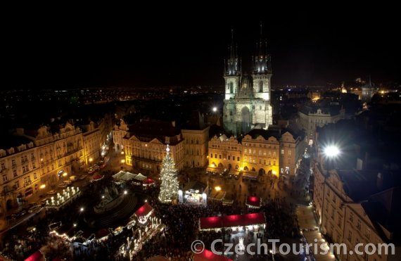 Prague during the winter holidays