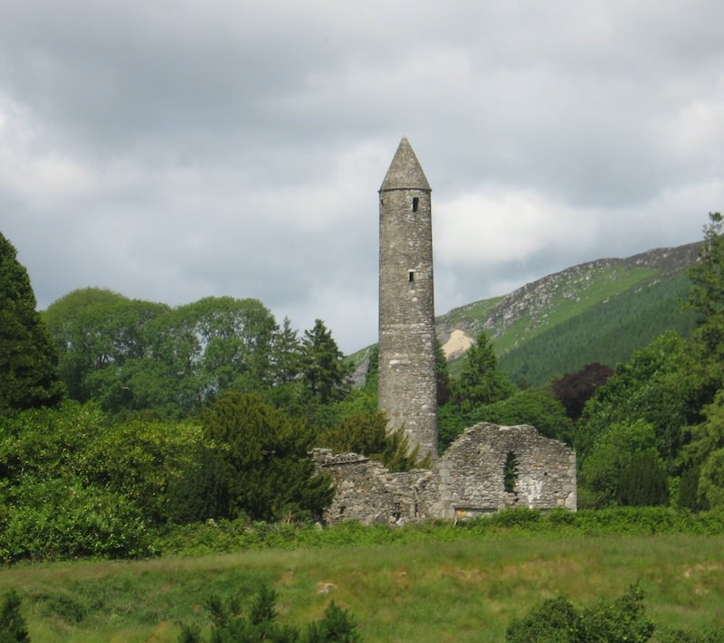 Glendalough Valley Monastic Round Tower