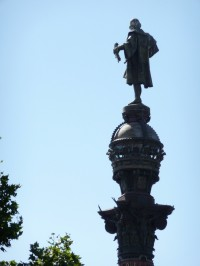 Christopher Colombus Statue in Barcelona