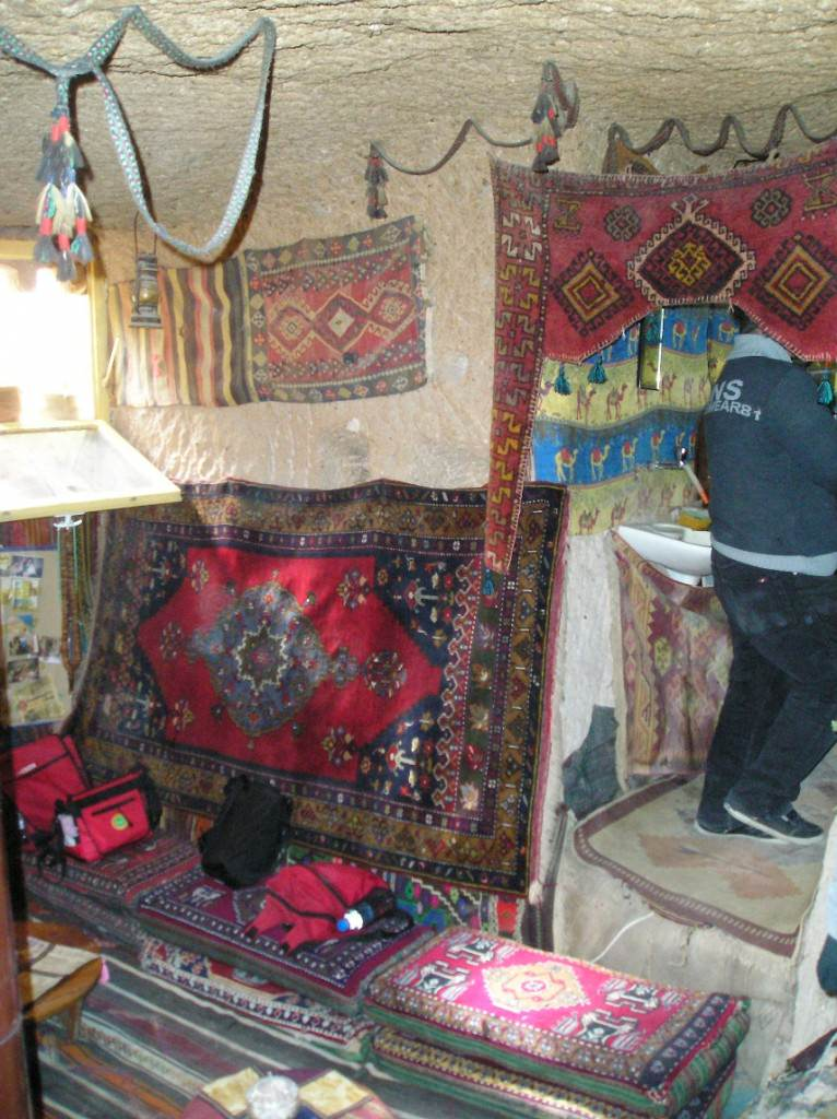 Interior of cave-home in Cappadocia