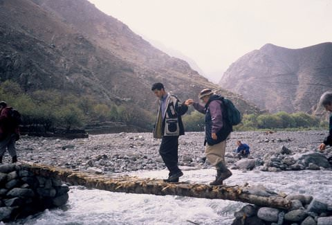 Crossing the Ourika River