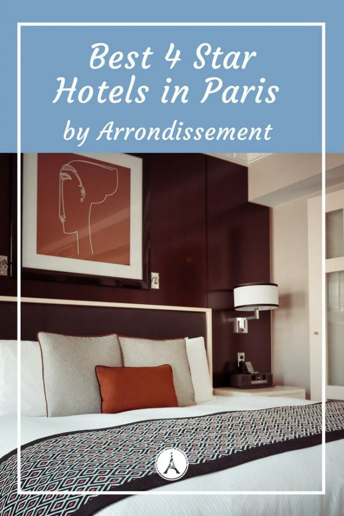 Best Paris 4 Star Hotels in Paris by arrondissement #Paris #France #Travel #Holiday #vacation #hotel #Hotels