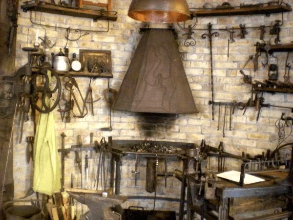 Some work on display in the local blacksmith's showroom in Vilnius