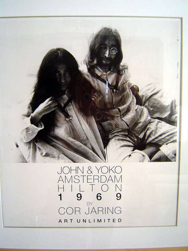 John and Yoko at the Hilton