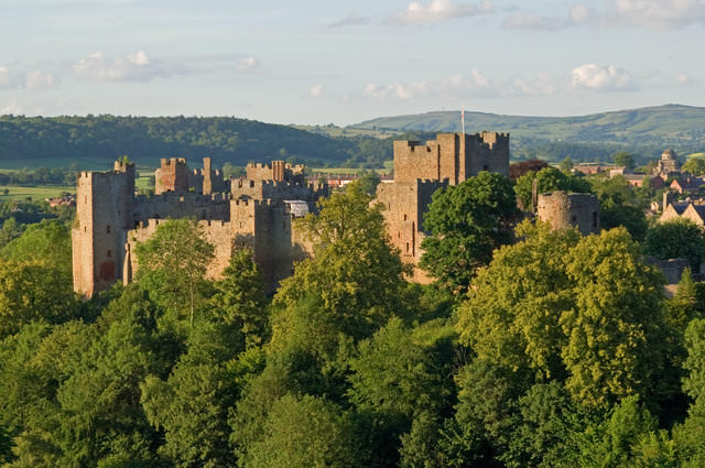 Ludlow Castle from Whitcliffe