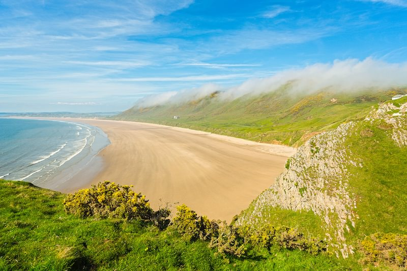 Beach at Rhossili, Crown Copyright (2013) Visit Wales