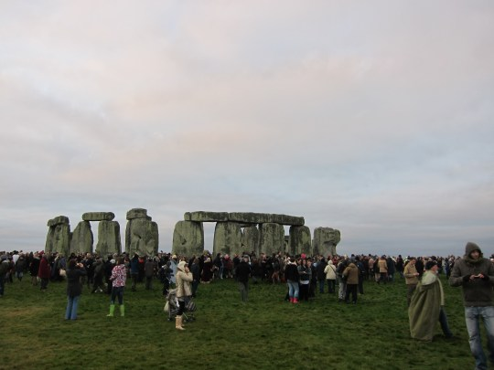 Stonehenge after sunrise