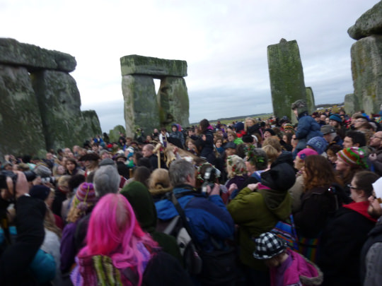 Solstice ceremony crowd