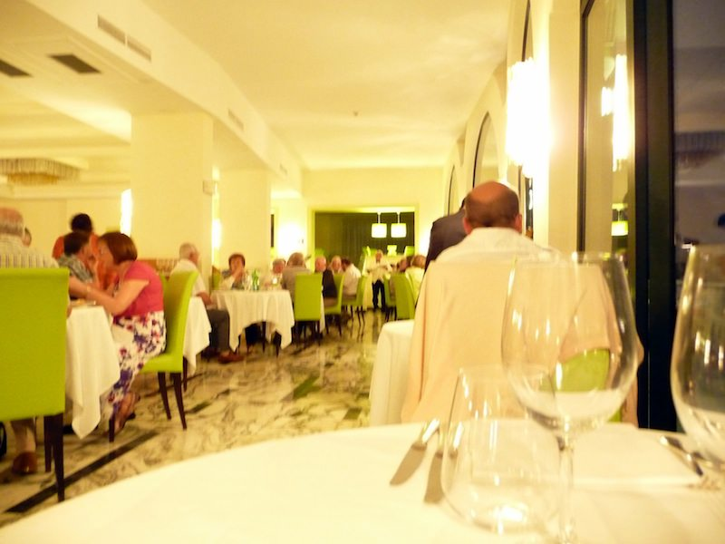 Dining room at the Grand Hotel President