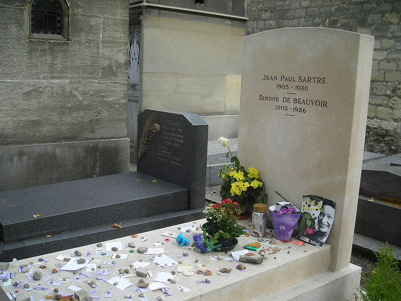Sartre and Beauvoir grave- Montparnasse Cemetery