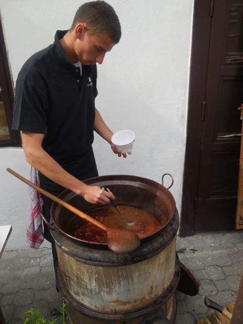 Preparing Goulash