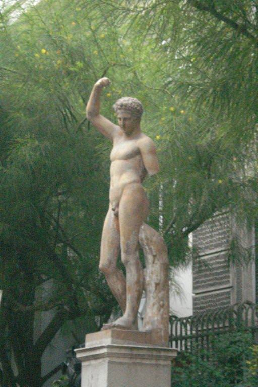 Statue in the Garden of Muses