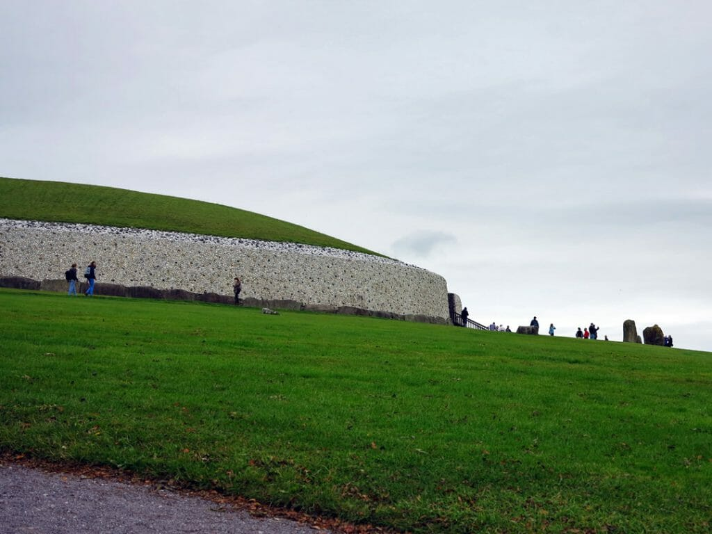 Newgrange mound covers an acre