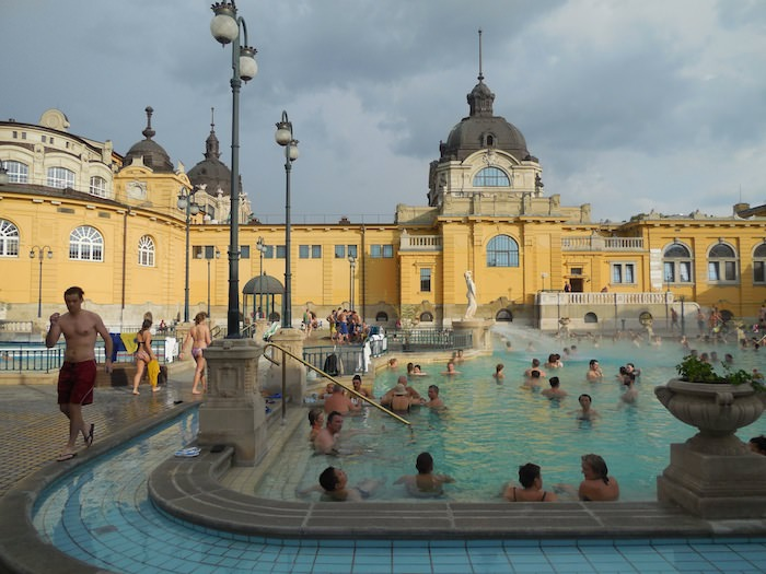 Szecheyni baths one of the thermal baths of Budapest