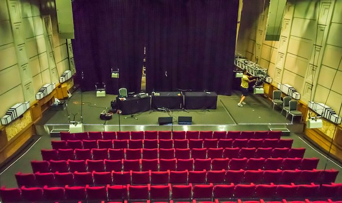 The Old BBC Radio Theater, that seats 400 people. It was used as a bomb shelter from the German bombing raids in World War II.