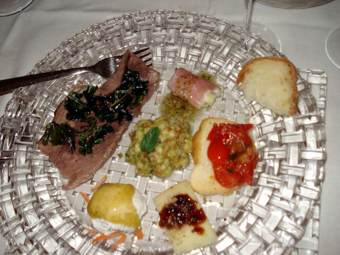 An offering of amuse-bouches at Ristorante Lucanerie in Matera