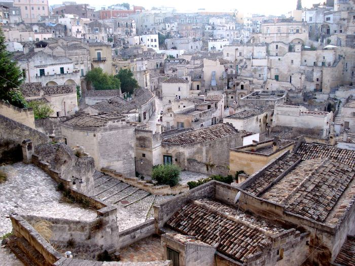 Birds eye view of Matera