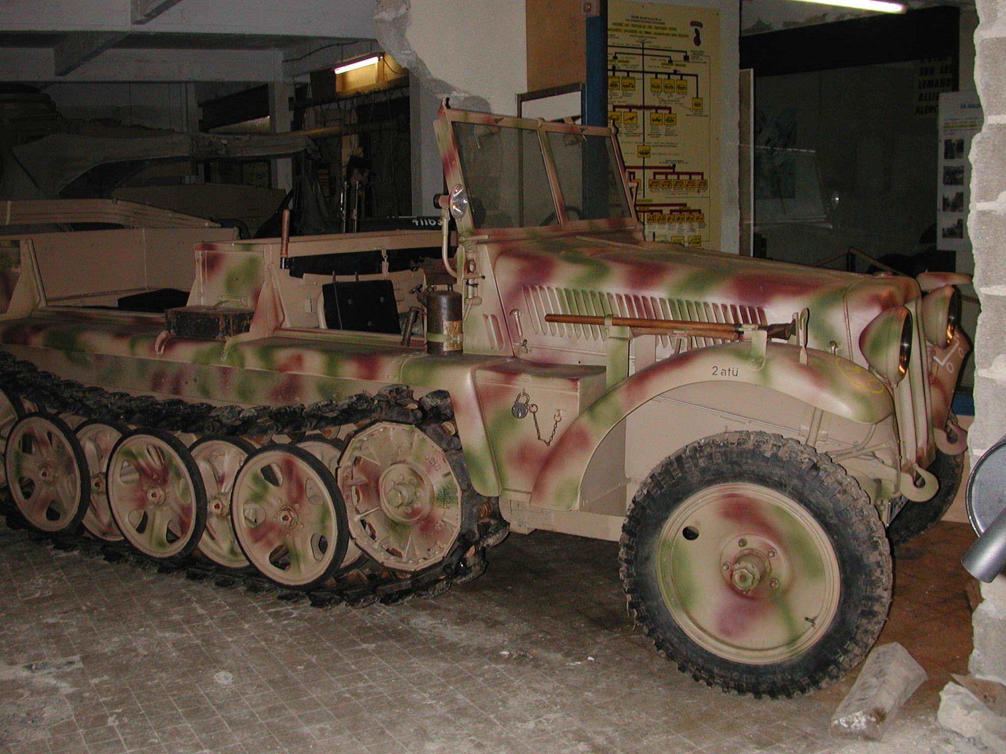 German vehicle in WWII Museum Normandy