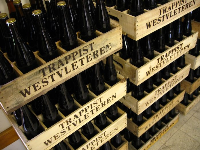 Crates of Westvleteren 12 at the Abbey of St. Sixtus await the arrival of proud new owners -Photo by Joe Stange