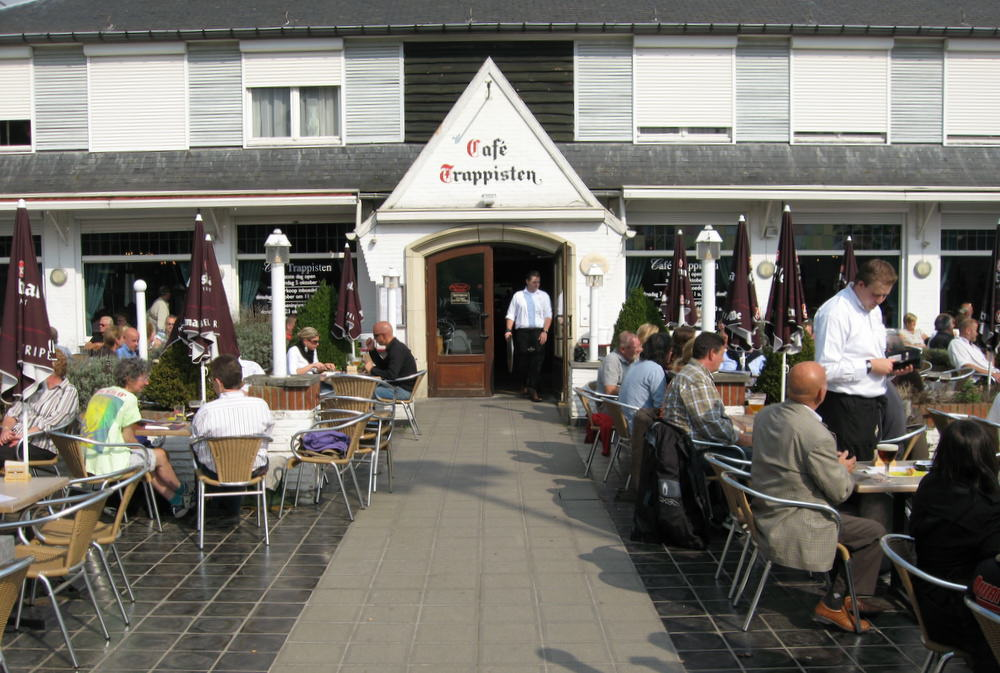The sprawling terrace of Café Trappisten official brewery tap of Westmalle - Photo by Joe Stange