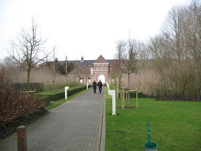 This path leads from the In de vrede café to the Abbey of St. Sixtus at Westvleteren - Photo by Joe Stange