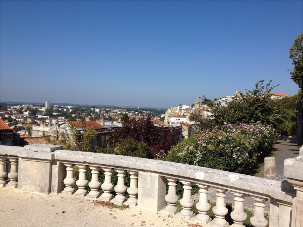 Balustrade overlooking the city