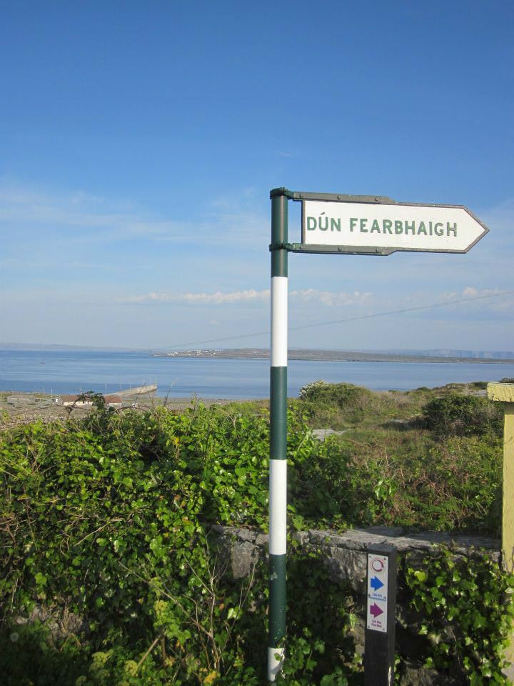 Sign for the Dun Fearbhaigh Fort