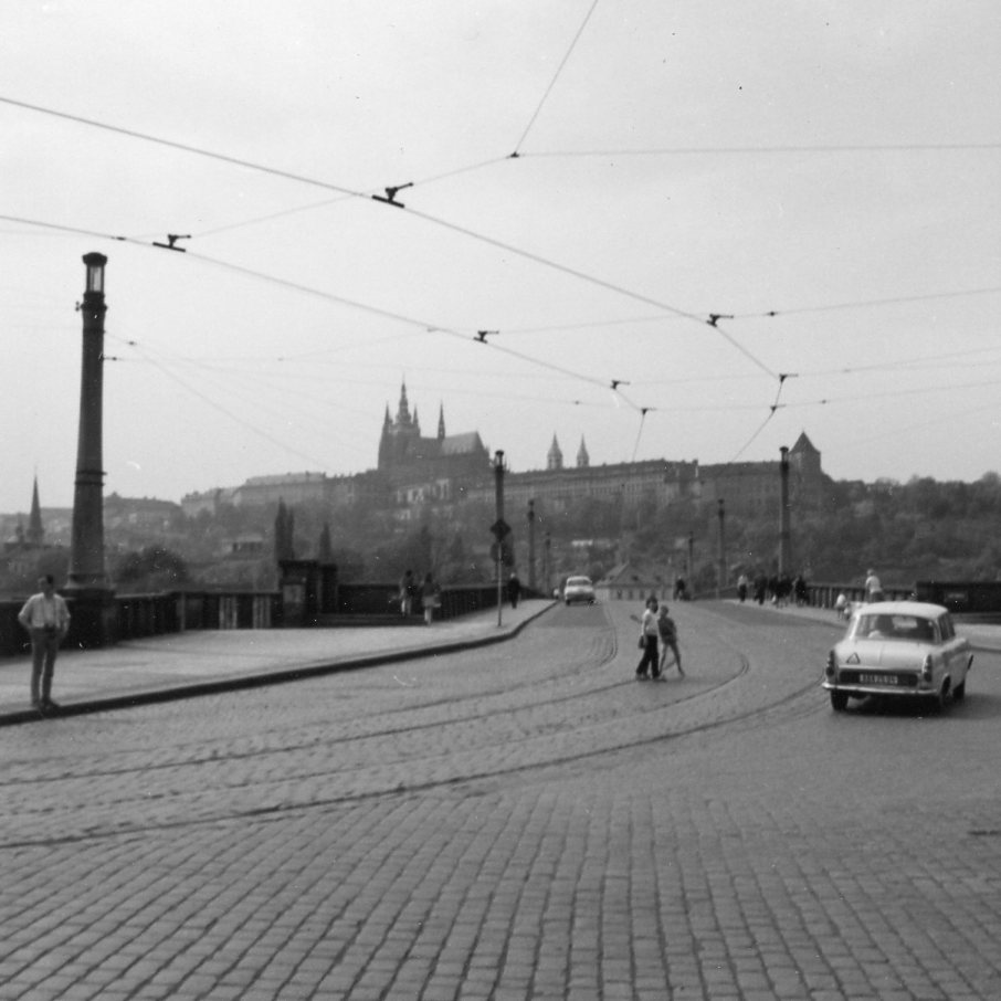 Charles Bridge in 1969 with absolutely nothing for sale, unlike today