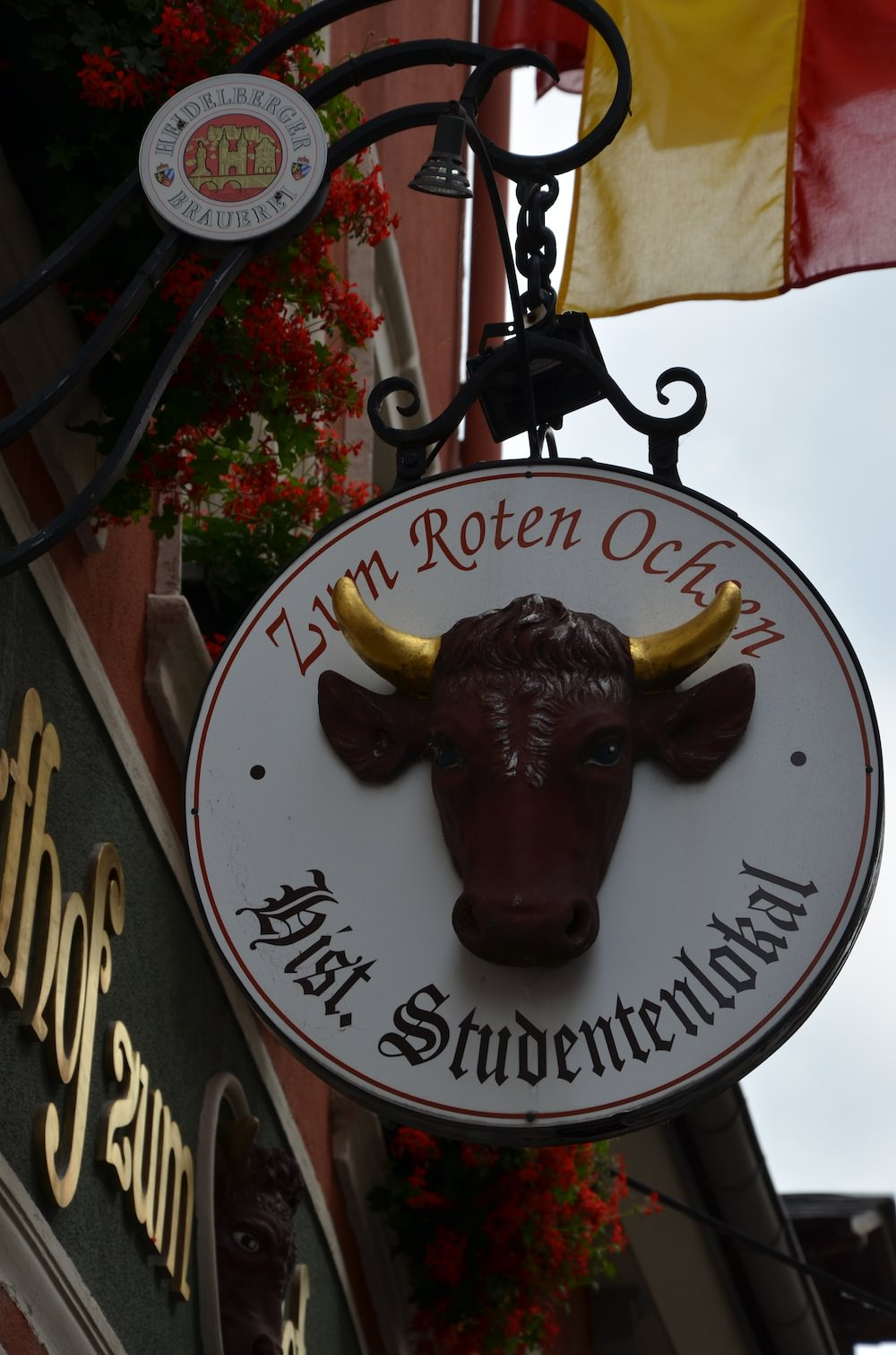 Sign outside the Roten Ochsen student pub.
