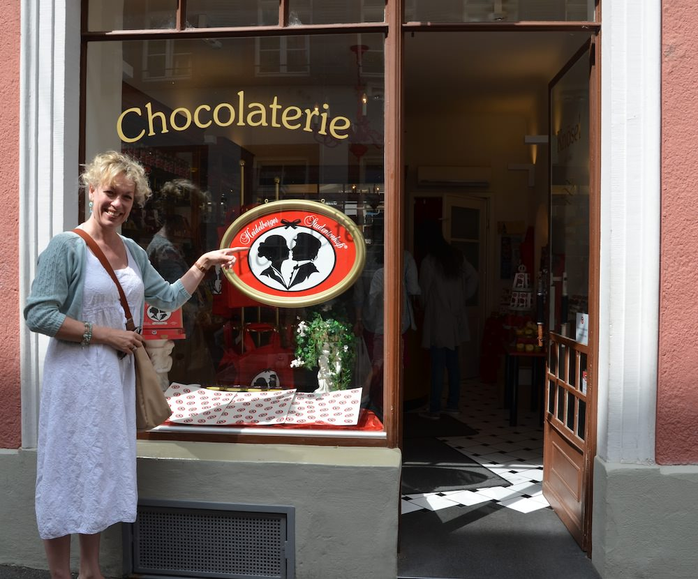 Susanne Fiek will tailor your walking tour to your interests and time. and she knows every chocolaterie in town!