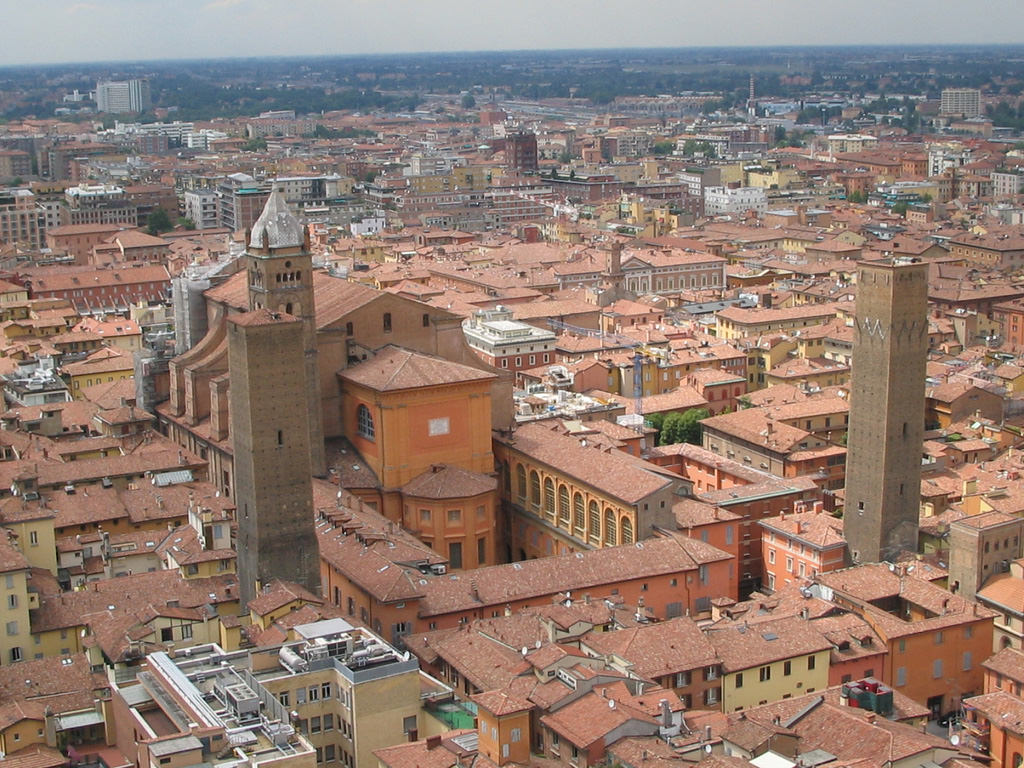 The red roofs of Bologna