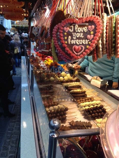 All the markets offer Gingerbread and chocolate delicacies