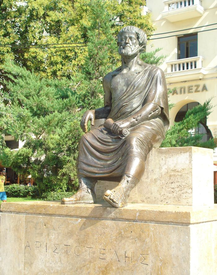 Statue of the philosopher Aristotle