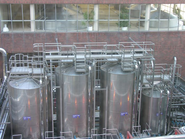 Guinness brewing vats as seen from the Gravity Bar