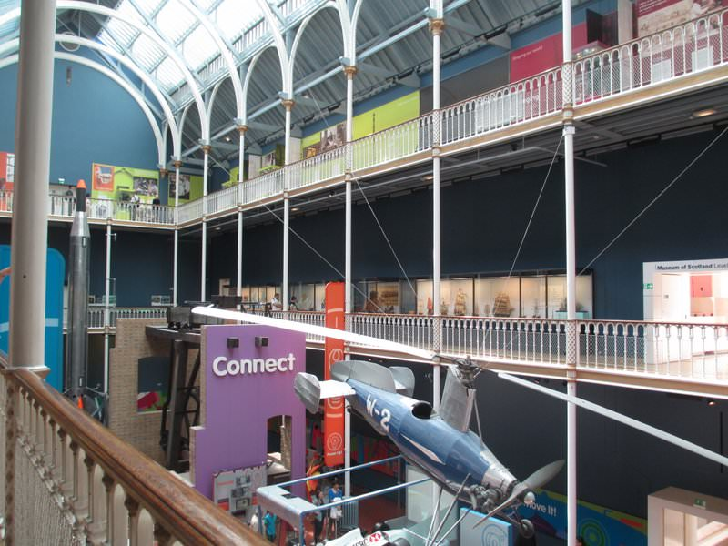 One of several galleries in the National Museum of Scotland