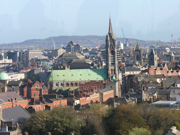 Panoramic view of Dublin from the Gravity Bar