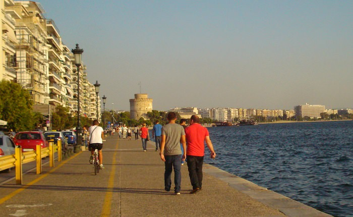 Thessaloniki's sea-side promenade