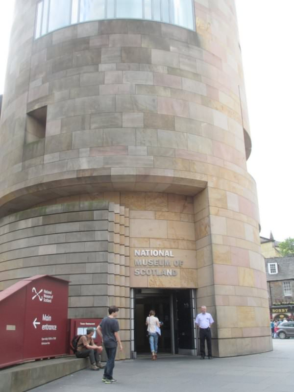 The modern building and National Museum of Scotland entrance